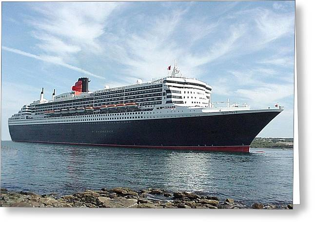 Queen Mary 2 In Halifax Greeting Card