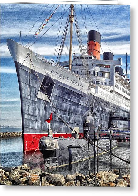 Queen Mary In Long Beach Greeting Card