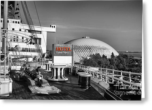 Queen Mary On Deck Greeting Card by Mariola Bitner
