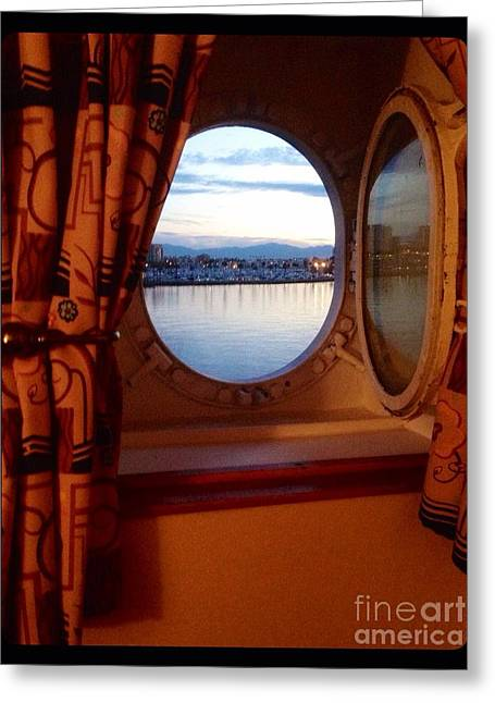 Queen Mary Starboard Port View Greeting Card