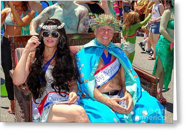 Greeting Card featuring the photograph Queen Mermaid-king Neptune by Ed Weidman