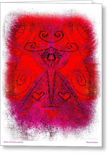 Queen Of Hearts And Love Greeting Card