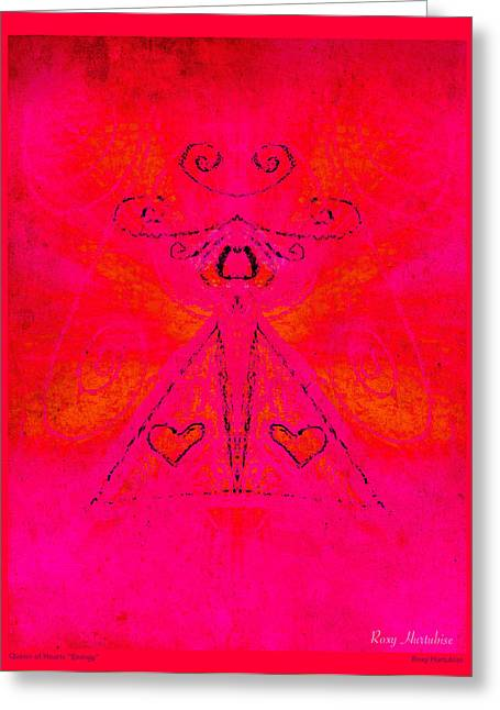 Queen Of Hearts Energy Greeting Card