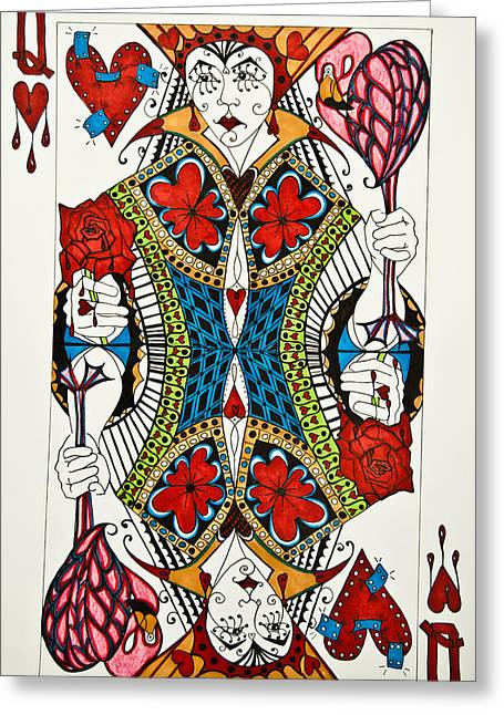 Queen Of Hearts - Wip Greeting Card