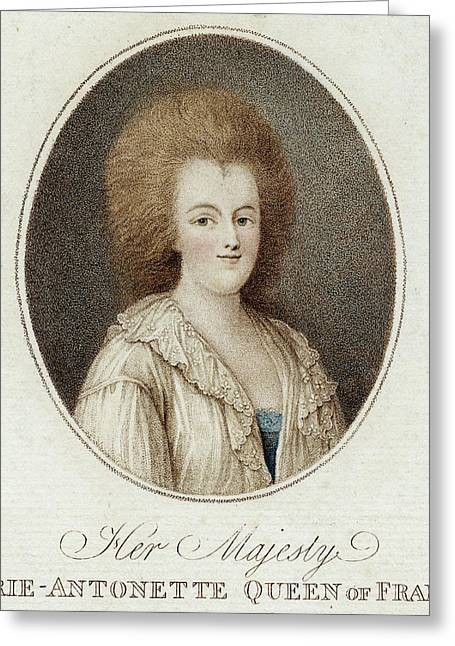 Queen Of Louis Xvi          Date 1755 - Greeting Card