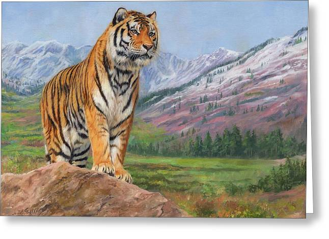 Queen Of Siberia Greeting Card by David Stribbling