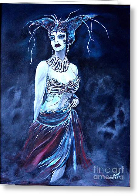 Queen Of The Dead Greeting Card by Valarie Pacheco