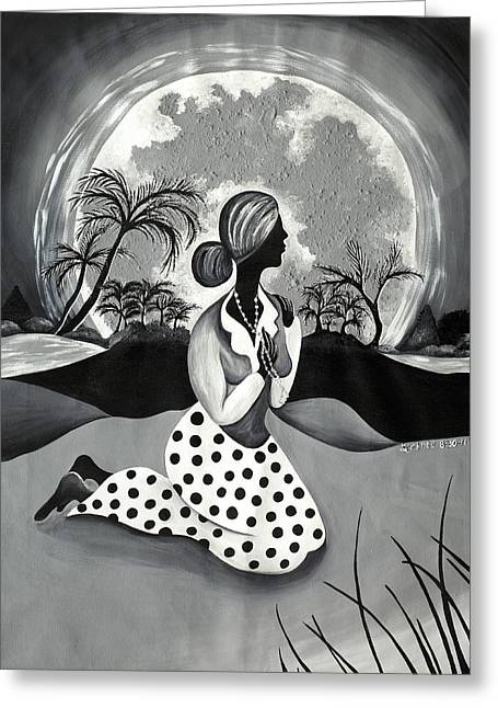Queen Of The Moment Greeting Card by Patricia Sabree