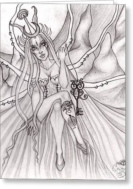 Queen Serii' El Greeting Card by Coriander  Shea