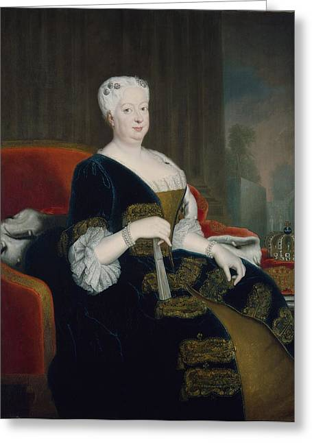 Queen Sophia Dorothea Of Hanover Oil On Canvas Greeting Card