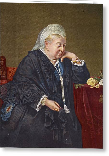 Queen Victoria 1819-1901 1899 Oil On Canvas Greeting Card