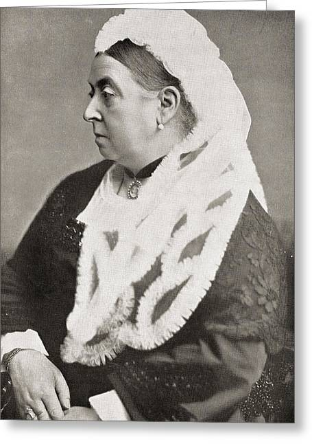Queen Victoria Greeting Card by English Photographer
