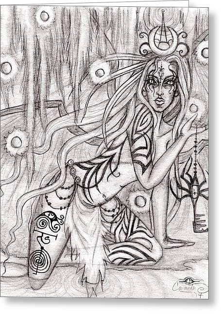 Queen W' Alatien Greeting Card by Coriander  Shea