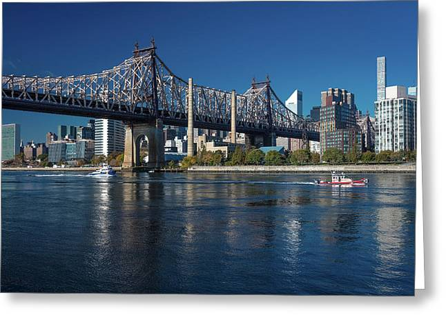 Queens Bridge To Roosevelt Island, New Greeting Card