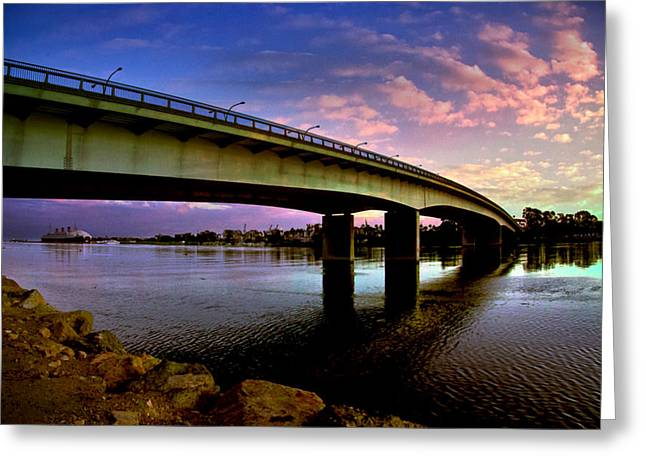 Greeting Card featuring the photograph Queens Way Bridge by Joseph Hollingsworth