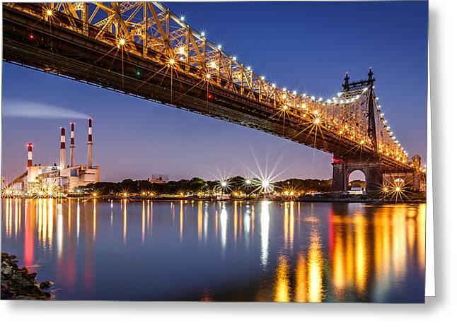 Queensboro Bridge Greeting Card by Mihai Andritoiu
