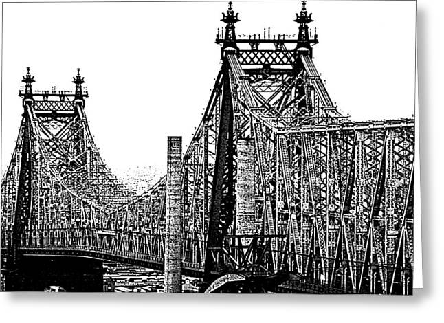 Queensborough Or 59th Street Bridge Greeting Card