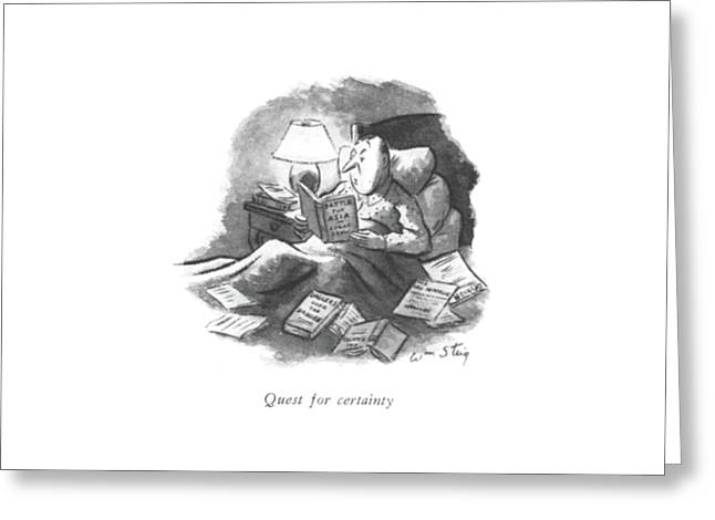 Quest For Certainty Greeting Card