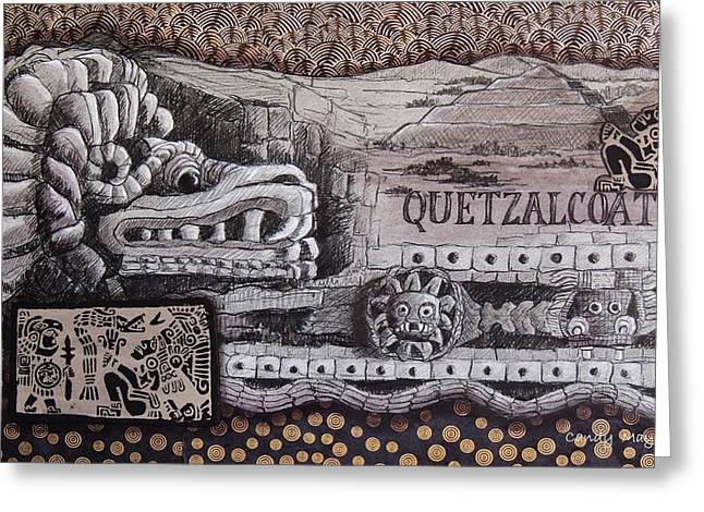 Quetzalcoatl Greeting Card by Candy Mayer