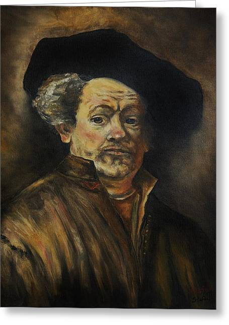 Quick Study Of Rembrandt Greeting Card by Stefon Marc Brown
