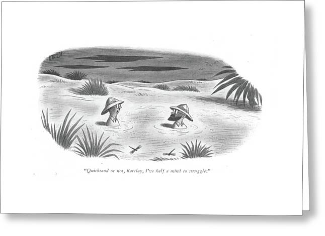 Quicksand Or Greeting Card