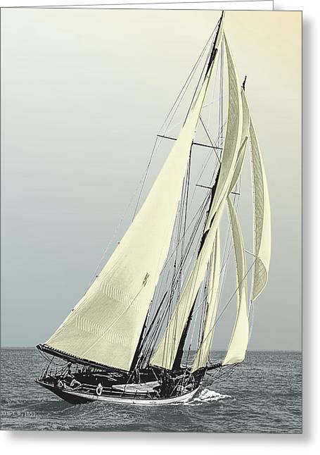 Quickstep - Schooner Yacht Greeting Card