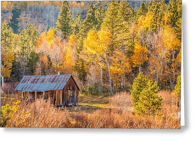 Quiet Cabin Greeting Card by Charles Garcia