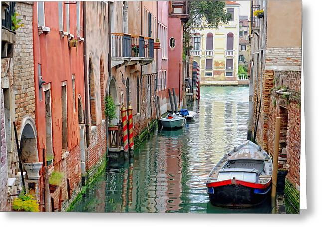 Quiet Canal Greeting Card by Bishopston Fine Art