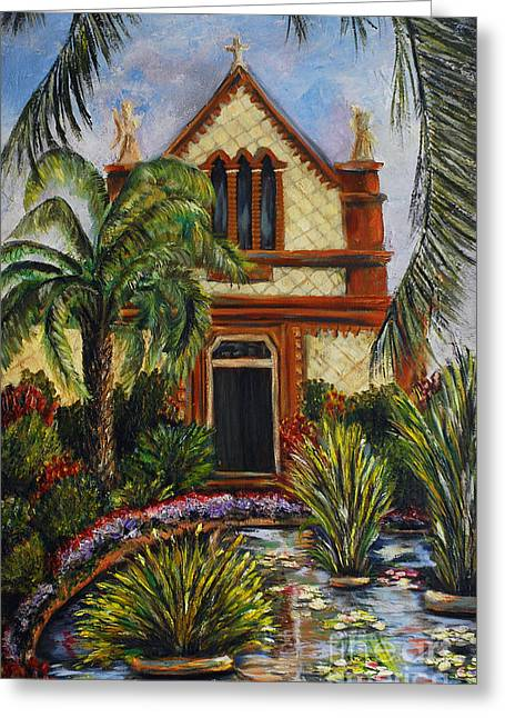 Quiet Chapel Greeting Card by Nancy Bradley