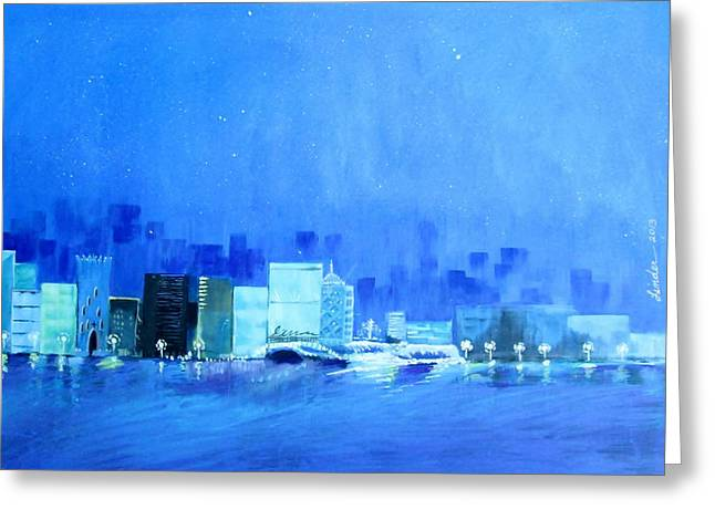 Quiet City Night Greeting Card