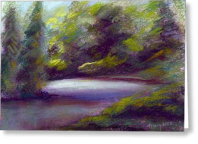 Quiet Cove Greeting Card by Addie Hocynec