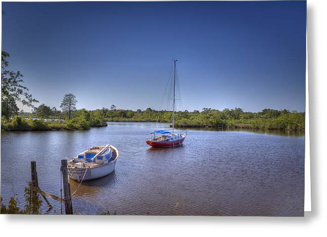 Quiet Cove Greeting Card by Barry Jones