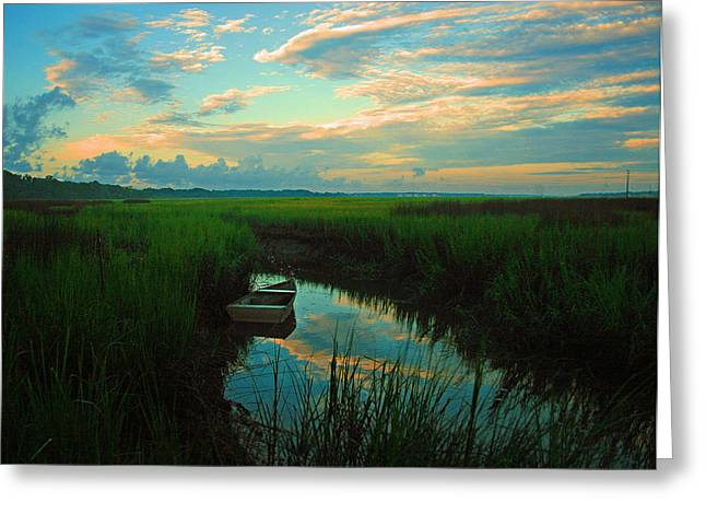 Quiet Gateway Greeting Card by Tony DelSignore