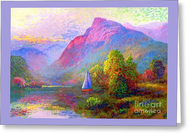 Sailing Into A Quiet Haven Greeting Card