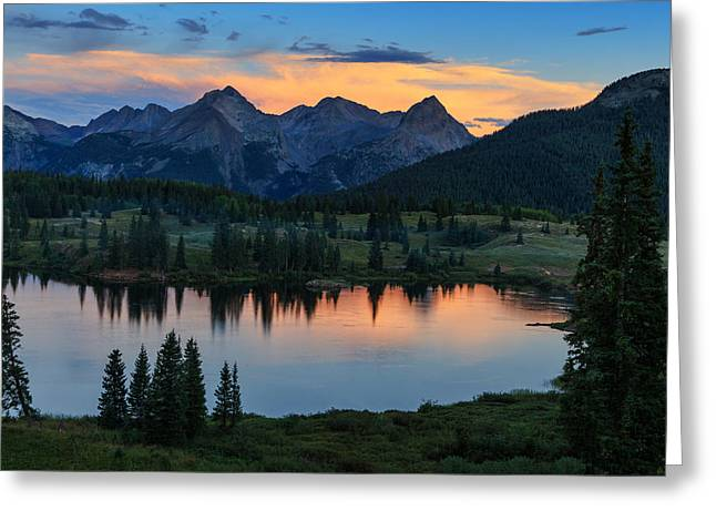 Quiet In The San Juans Greeting Card