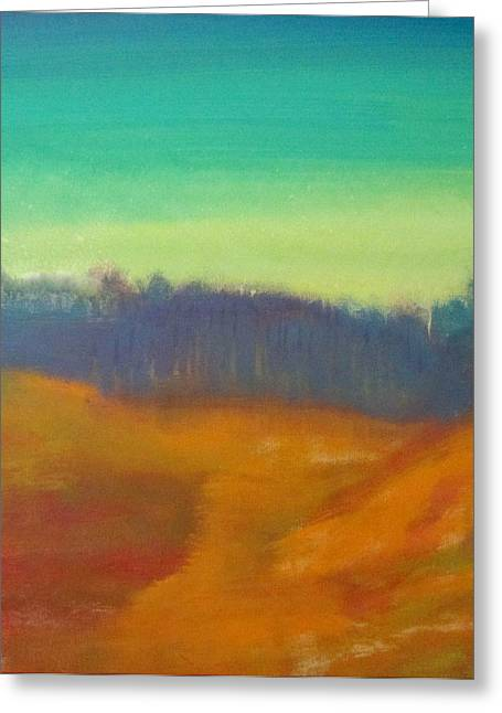 Greeting Card featuring the painting Quiet by Keith Thue
