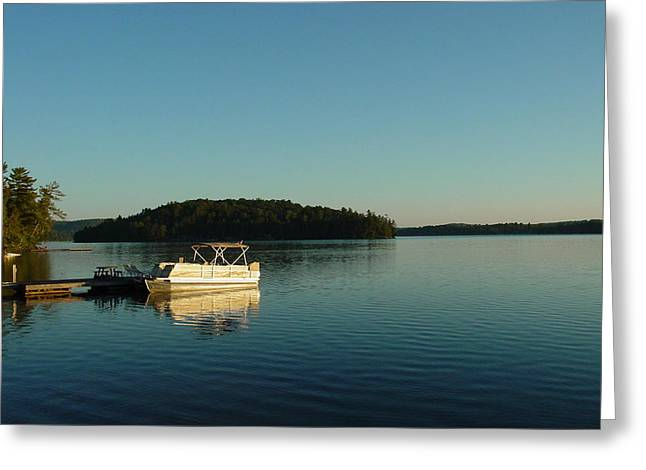 Greeting Card featuring the photograph Quiet Lake by Dorothy Maier