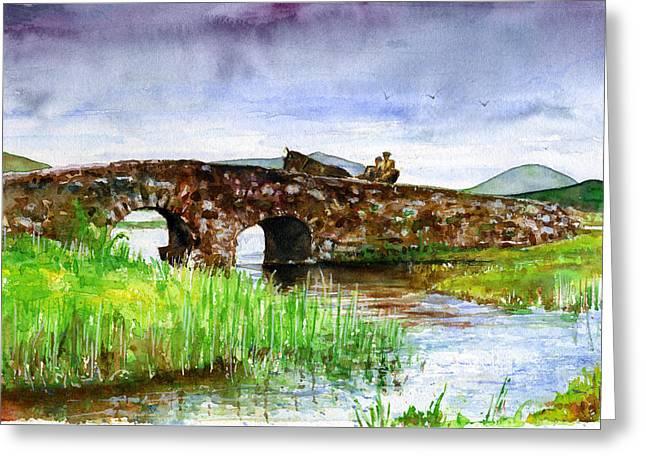 Quiet Man Bridge Ireland Greeting Card by John D Benson