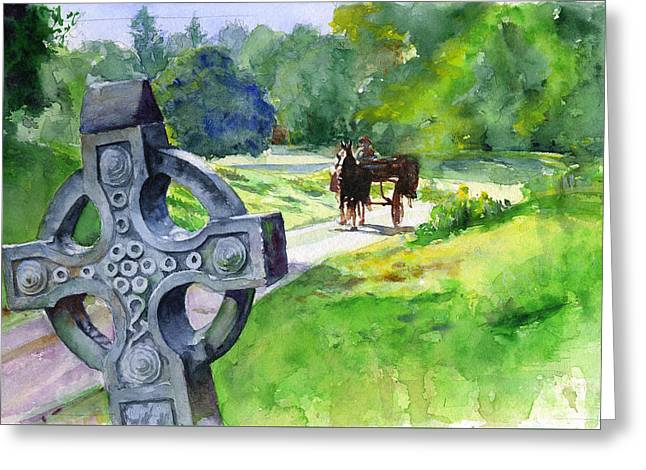 Quiet Man Watercolor 2 Greeting Card