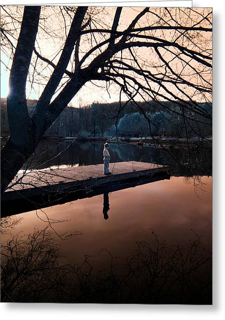 Greeting Card featuring the photograph Quiet Moment Reflecting by Rebecca Parker