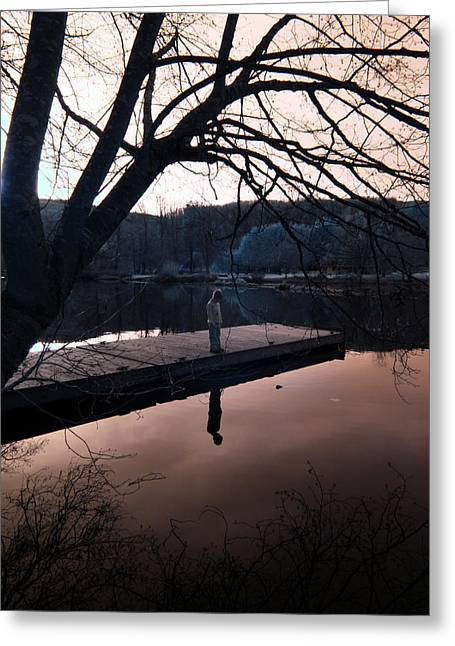 Greeting Card featuring the photograph Quiet Moments Reflecting by Rebecca Parker