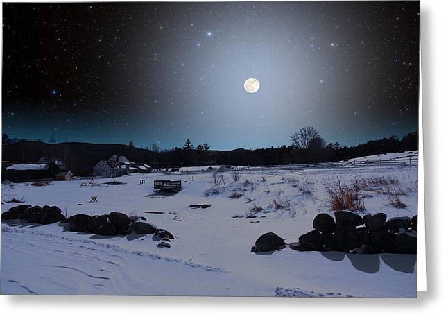 Greeting Card featuring the photograph Quiet Moonlight by Larry Landolfi