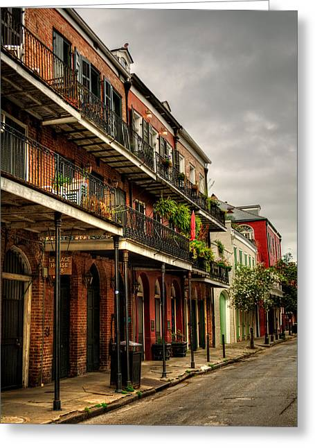 Quiet Morning In The French Quarter Greeting Card