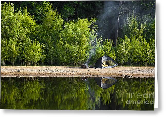 Quiet Morning Greeting Card by Svetlana Sewell