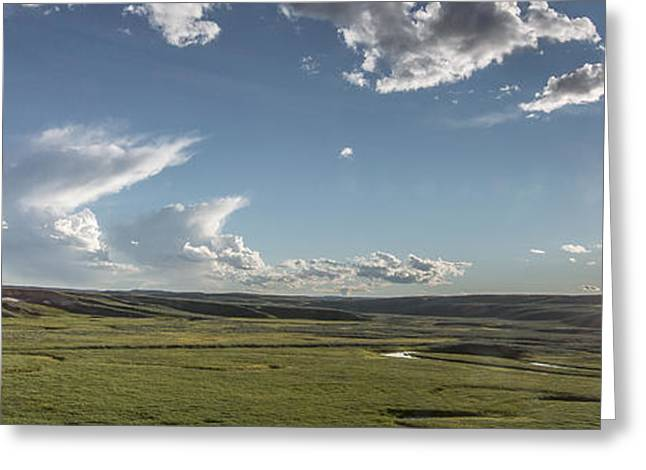 Quiet Prairie Greeting Card by Jon Glaser