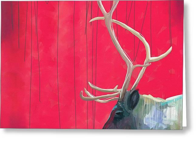 Quiet Reindeer Greeting Card