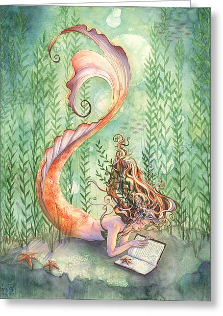 Quiet Time Greeting Card by Sara Burrier