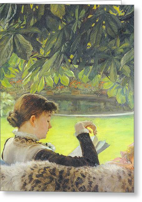Quiet Greeting Card by Tissot