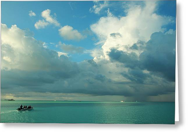 Quiet Trip. Maldives Greeting Card by Jenny Rainbow