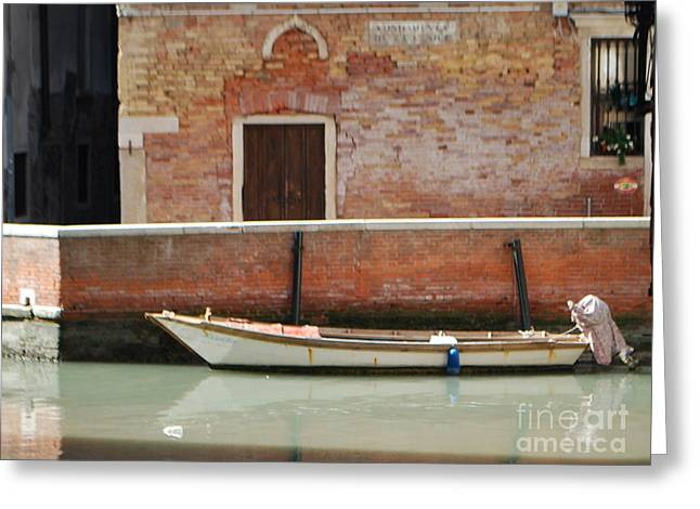 Quiet Venice Greeting Card by William Wyckoff